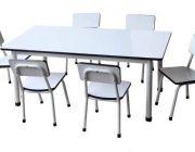 โต๊ะอนุบาลโครงขาเหล็กแป๊ปกลม