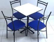 ชุดโต๊ะอาหาร รุ่น T-4 ชุดโต๊ะประกอบด้วย โต๊ะอาหาร หน้าสี่เหลี่ยม .เก้าอี้โครงขาเ