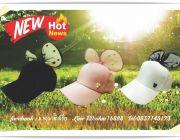 สกรีนหมวกโบว์ สกรีนหมวก ราคาถูก หมวกโบว์ หมวก ผูก โบว์ หมวกผูกโบว์ด้านหลัง