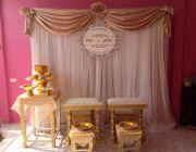 ให้เช่าชุดตั่งรดน้ำสังข์สีครีมทองในพิธีแต่งงาน 2000 บาท 087-3345255deedeewedding