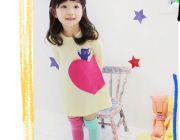 ชุดเดรสเด็กผู้หญิง เสื้อตัวยาว สีเหลือง อายุประมาณ 2-6