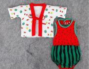 ชุดเซ็ทเด็กเล็ก เสื้อ+บอดี้สูท ลายแตงโม อายุประมาณ 0-3 ปี