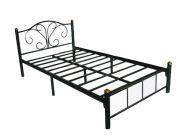 เตียงนอนเหล็ก 3.5 ฟุต ตะแกรง รุ่น No.1200 ดำ
