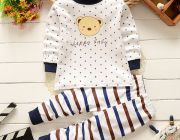 ชุดนอนเด็กเสื้อลายคิตตี้+กางเกงขายาว