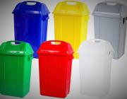 จำหน่ายถังขยะฝาแกว่าง มีหลายขนาดให้เลือก