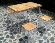 โต๊ะขาเหล็กเส้นขนาด 70x120 จัดโปร