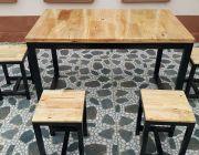 โต๊ะโครงเหล็ก ขนาด 70x120 เก้าอี้หัวโล้น 4 ตัว โปรจัดหนักถล่มทลาย