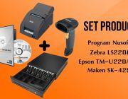ชุด POS โปรแกรม NS EasyStore Professional+TM-U220AP Port+SK425RJ11+LS2208U