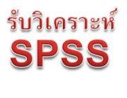 รับวิเคราะห์ข้อมูล SPSS รับทำวิจัย แปลผลทางสถิติ
