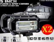 LED LIGHT BAR ไฟสปอร์ตไลท์ ไฟหน้ารถ ไฟท้าย 72W 12V-24V รุ่น COMBO BEAM ทรงเหลี่